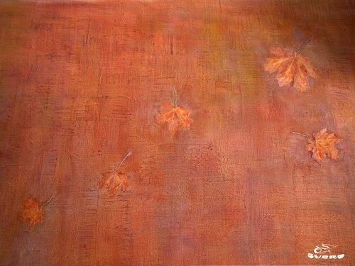 """стена столовой """"осень"""", барельеф, лепка, """"осенние листья"""""""