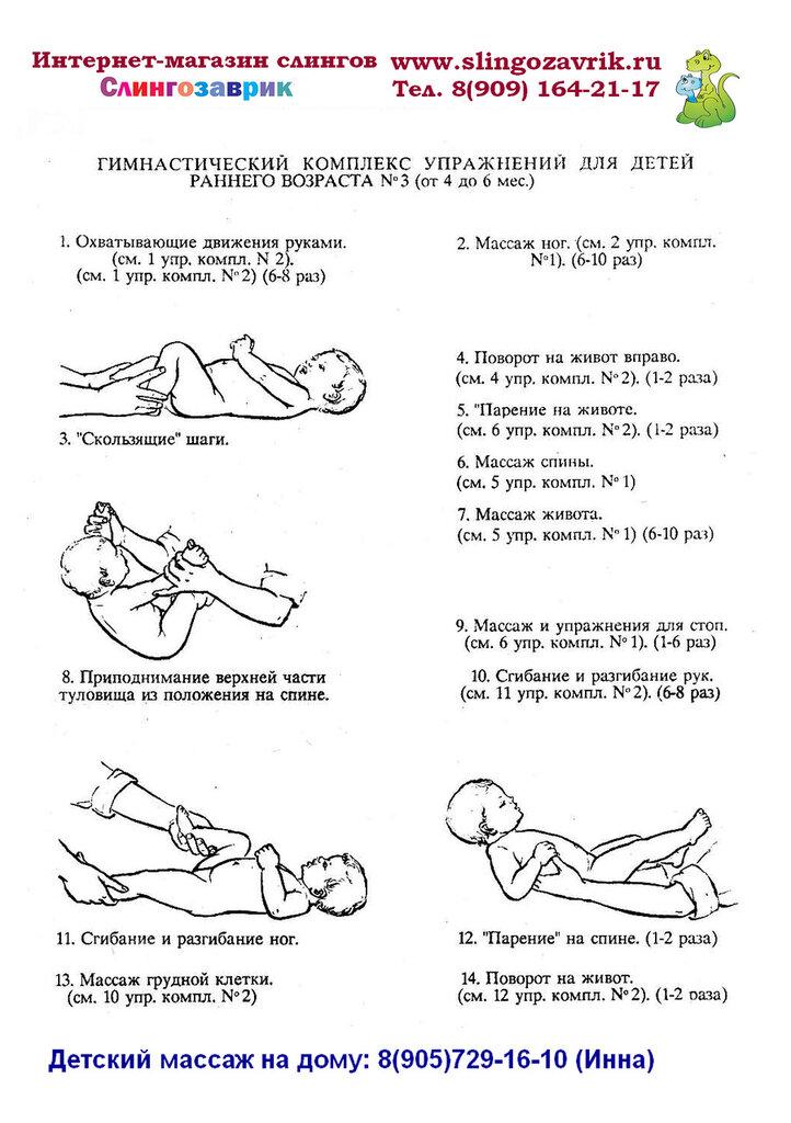 Гимнастика для детей до 1 года