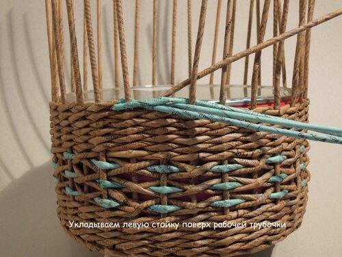 Плетение из газет фото пошаговое фото - Красивый узор. Плетение из газет. МК oblacco