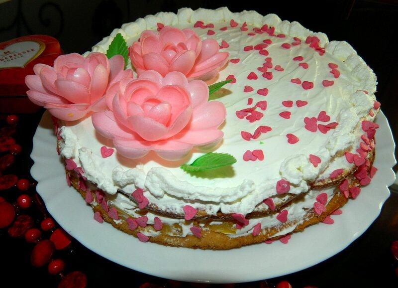 Торт сливками фото