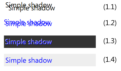 Simple Shadow