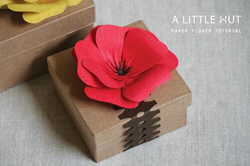 Как сделать красный мак для упаковки