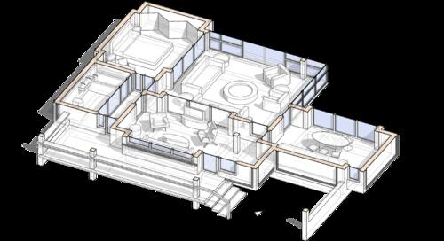 Группа входа, гостиная столовая прихожая, проект сблокированного модульного дачного жилого дома с остекленной террасой