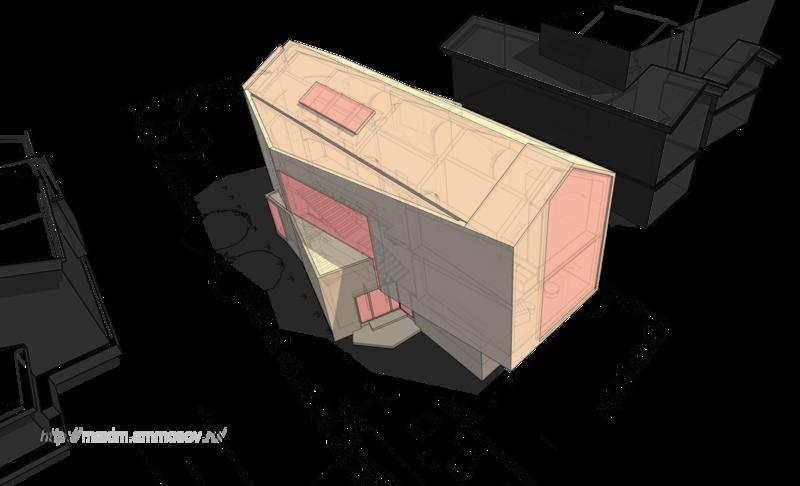 селитебная застройка, дом-корабль с камином, дом-яхта с эркером, общий вид коттеджа, сверху зенитное окно, прозрачные металлические витражи,территории застройки, ландщафт легкость изящество, прозрачные металлические витражи,