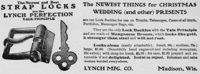 Новейшие и лучшие ремни с замками (1907)