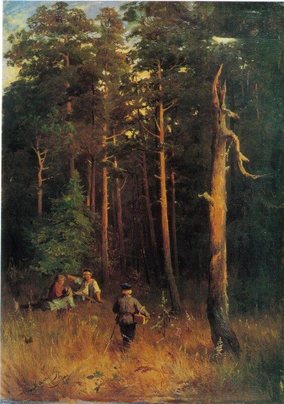 Фёдор Александрович Васильев  (1850 - 1873). Мальчики в сосновном бору, 1870