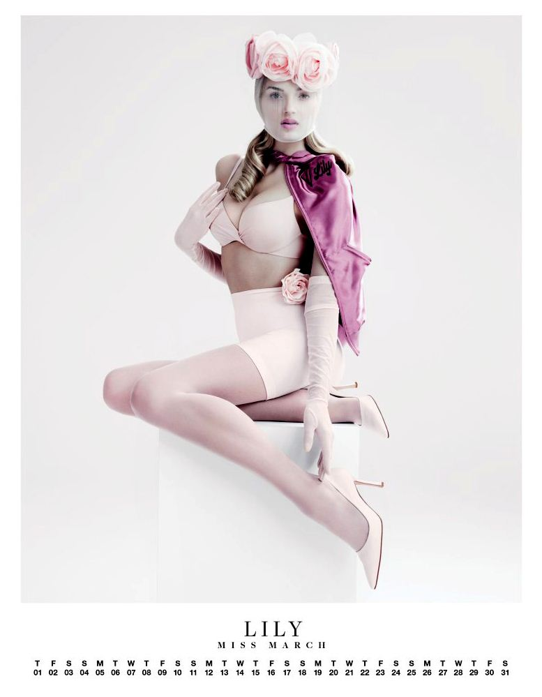 Ангелы Victorias Secret в пин-ап календаре на 2012 год - модель Лили Дональдсон / Lily Donaldson