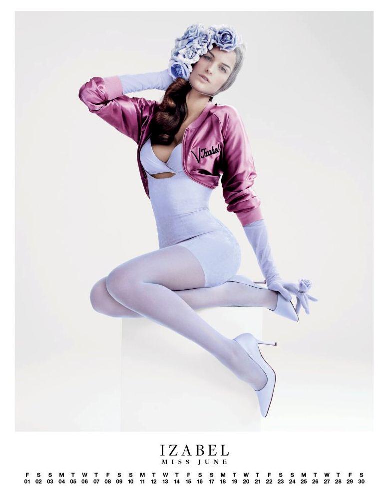 Ангелы Victorias Secret в пин-ап календаре на 2012 год - модель Изабель Гулар / Izabel Goulart