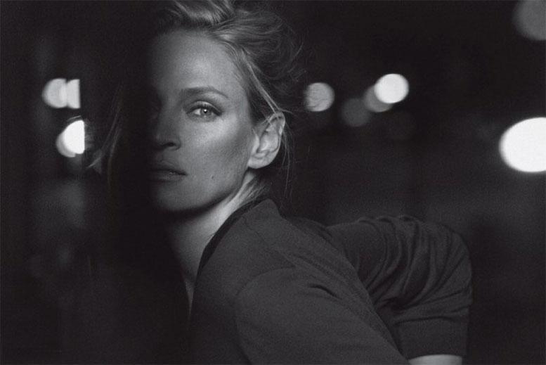 модель Ума Турман / Uma Thurman, фотограф Peter Lindbergh
