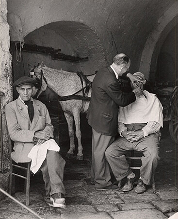 A Close Shave at the Stable, Naples, 1949