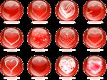 Валентинки - винтаж в png