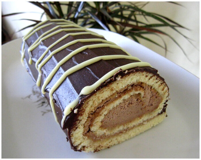 шоколадный рулет лакомка фото рецепт