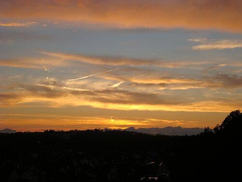 Вечернее небо в Lauf an der Pegnitz