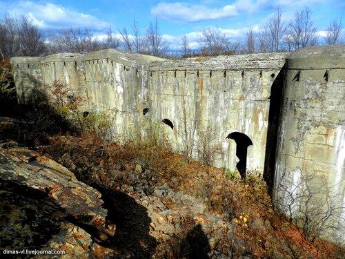 Двойной кофр форта №6 Владивостокской крепости. 17-октября-2011г