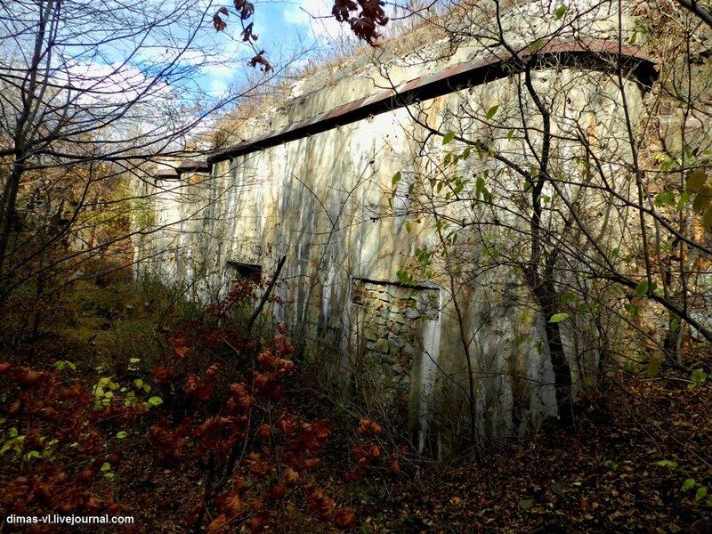 Одиночный кофр форта №6 Владивостокской крепости. 17-октября-2011г