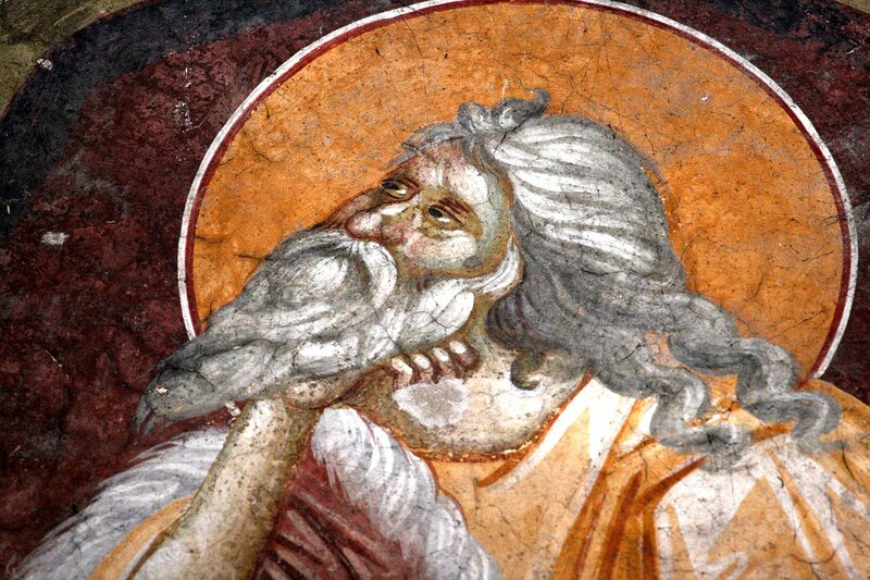Святой Пророк Илия. Фреска монастыря Грачаница, Косово, Сербия. Около 1320 года.