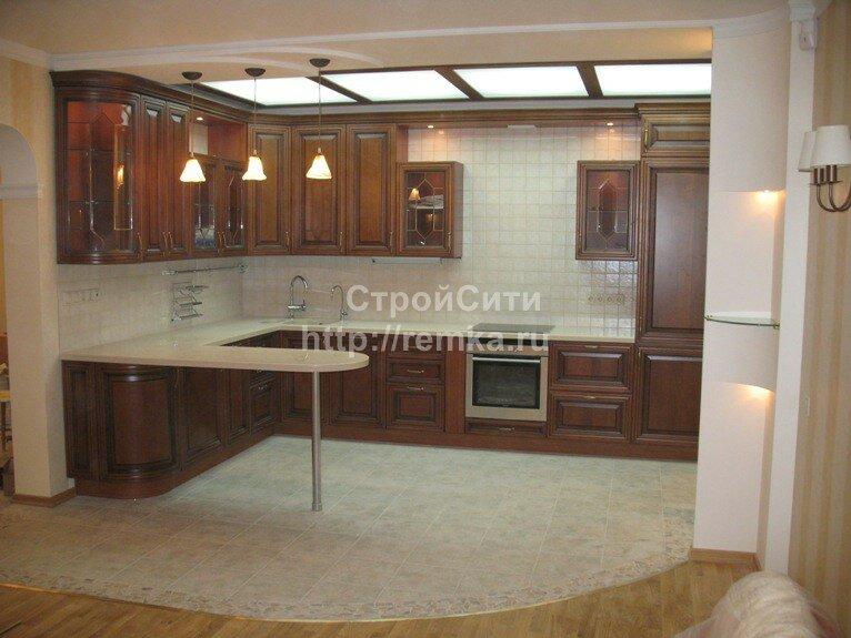 Ремонт квартир кухня гостиная фото
