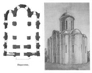 Церковь Успения Богородицы Пирогощи, план