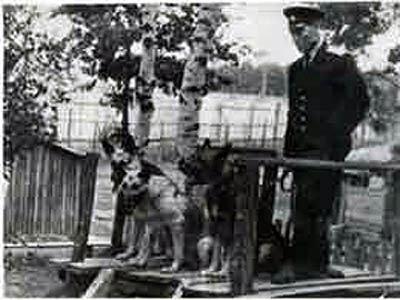 Ф.Хихлушка и собака Лира, фото из архива УВД (http://sanchess-city31.livejournal.com/)