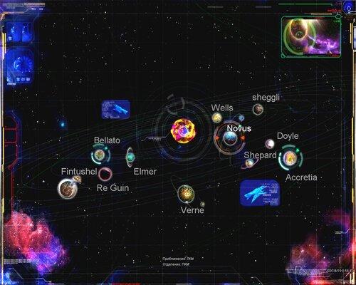 Схема солнечной системы. RF online