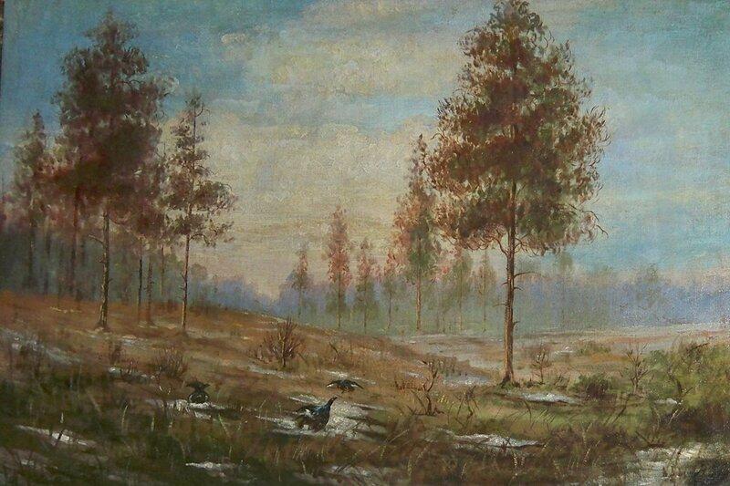 Неизвестный художник. конец 19 века. Весна. Глухари
