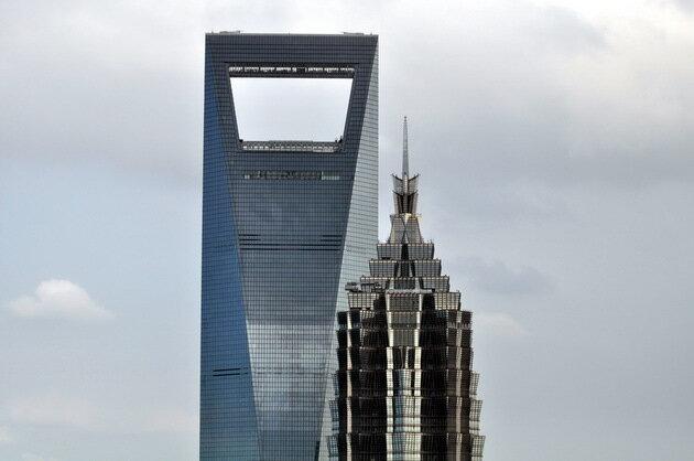 Шанхайский всемирный финансовый центр (Shanghai World Financial Center). Китай