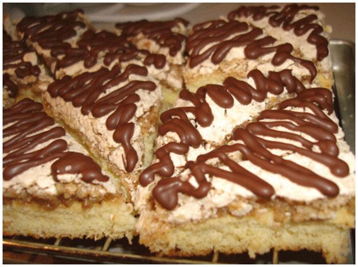 пирожное ореховые треугольники фото рецепт