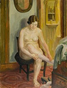 Girl Undressing, John French Sloan(1871-1951)