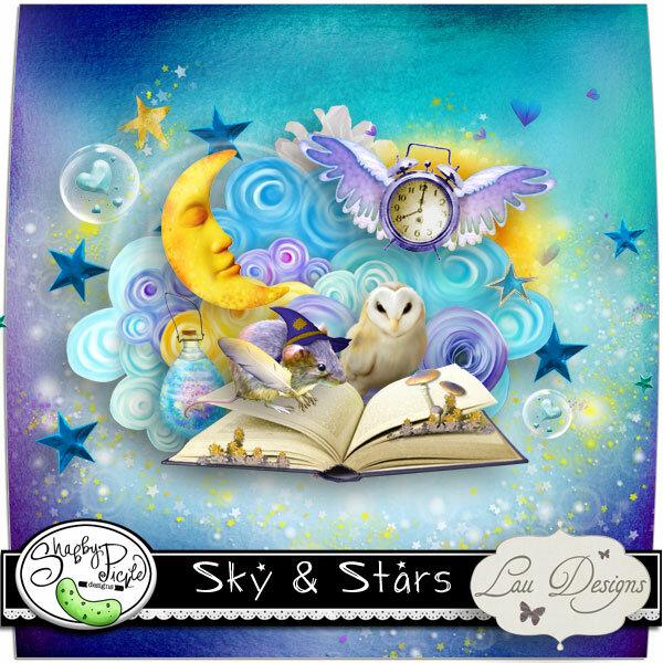 Скрап-набор Небо и звезды