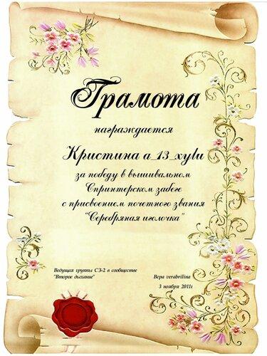 серебряная иголочка 3.11.2011
