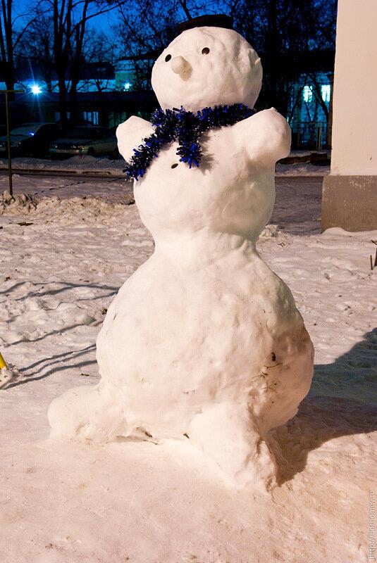 снеговик саров фотография