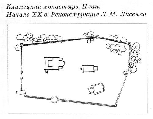 Климецкий Свято Троицкий монастырь, генплан, Карелия, чертежи