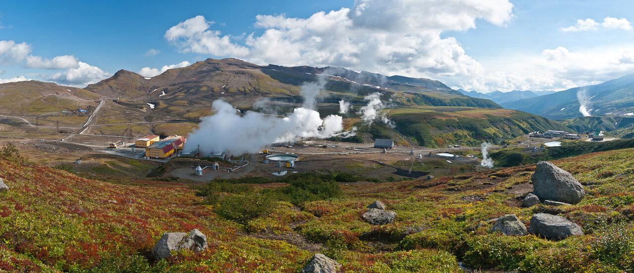 Мутновская геотермальная электростанция геоэс . Kamchatkaland