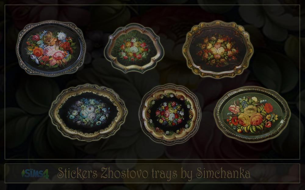Stickers Zhostovo trays by Simchanka