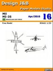 Журнал Mi-35 Brazilian air force - Design J&B paper model studio №4 2010