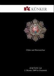 Книга Kunker auktion - ORDEN UND EHRENZEICHEN