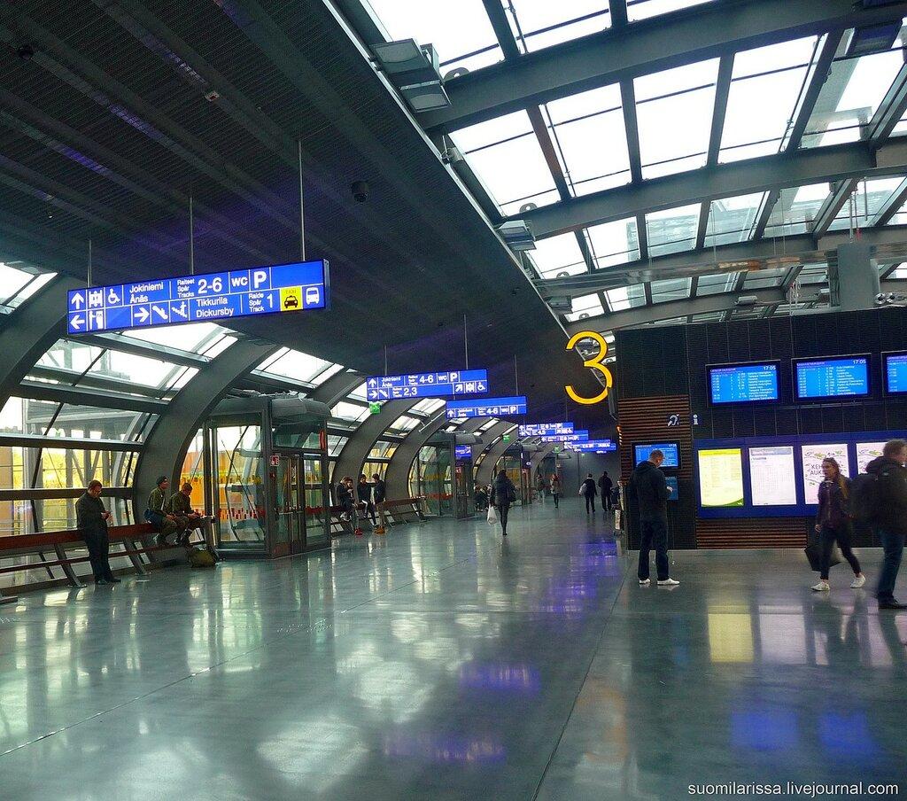 Ж/д вокзал в Тиккурила.