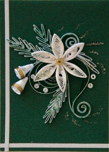 Новогодние открытки в технике квиллинг