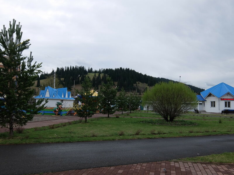 Таштагол - вид на горы