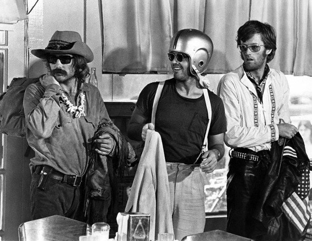 Dennis Hopper, Jack Nicholson and Peter Fonda