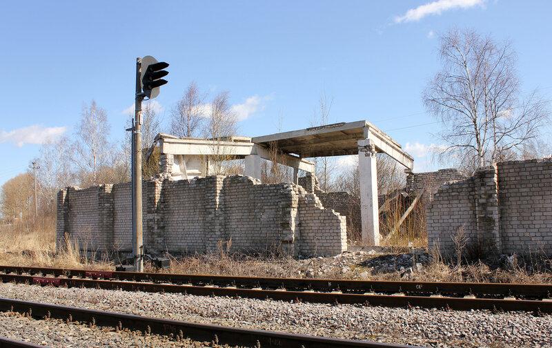 Бывший пакгауз в Калязинской горловине станции Белый городок