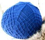 Описание работы: Шапка.  Мужская вязаная шапка-ушанка.