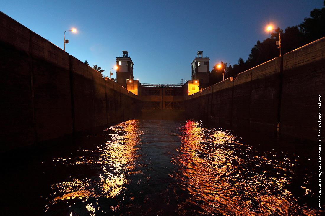 нижняя камера шлюз №7 канала имени Москвы