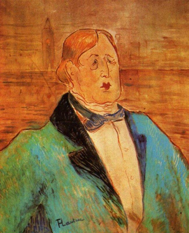 Тулуз-Лотрек. Портрет Оскара Уайльда,  1895
