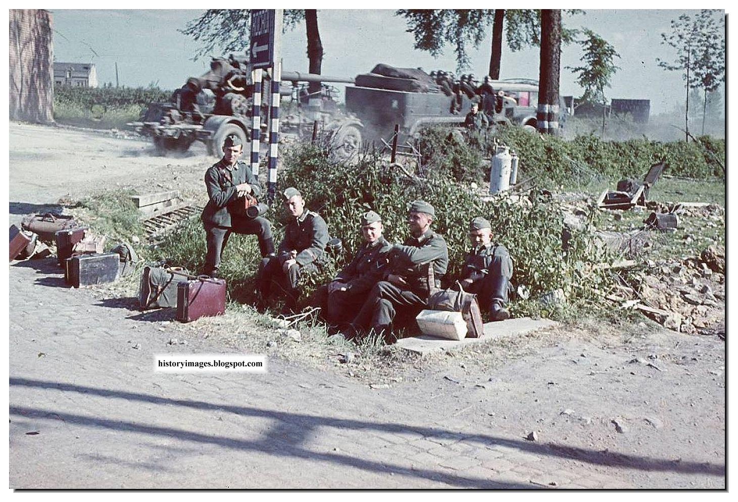 german-army-soldiers-ww2-all-color-clour-images-pictures-photos-rest-roadside.jpg