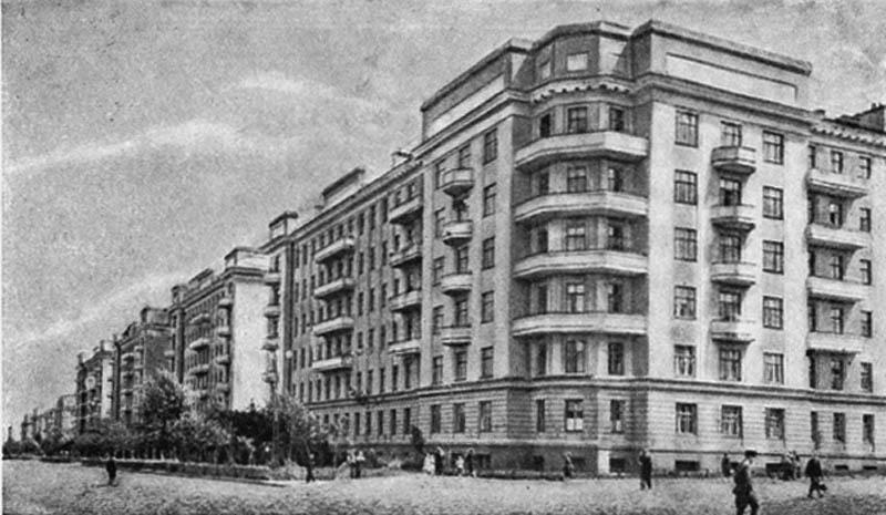 Жилые дома на улице Спартака. 1936 г.