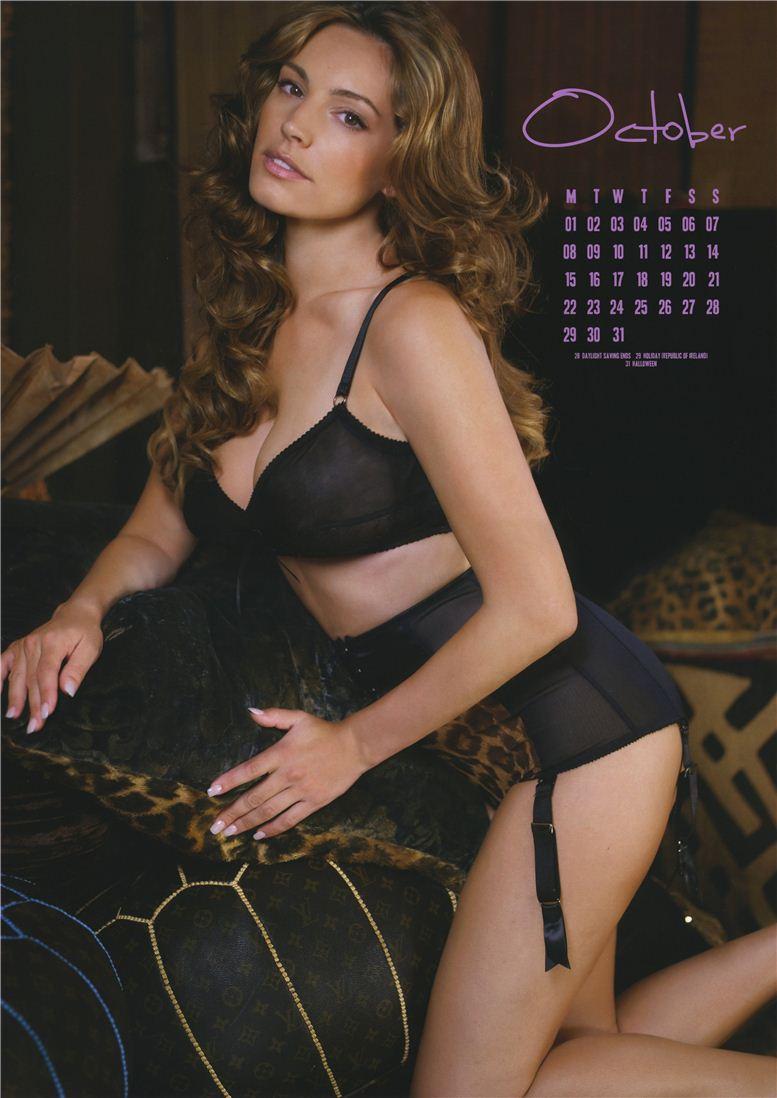 Kelly Brook / Келли Брук - официальній календарь на 2012 год - октябрь