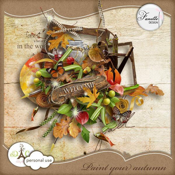 Скрап-набор Paint your autumn