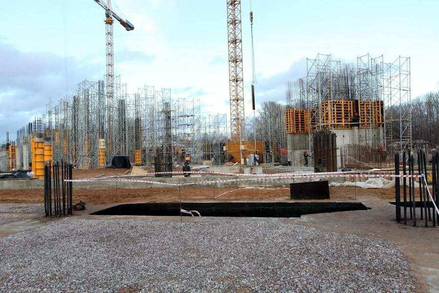 Стадион «Спартак»: Начались работы по бетонированию Южной трибуны (Фото)