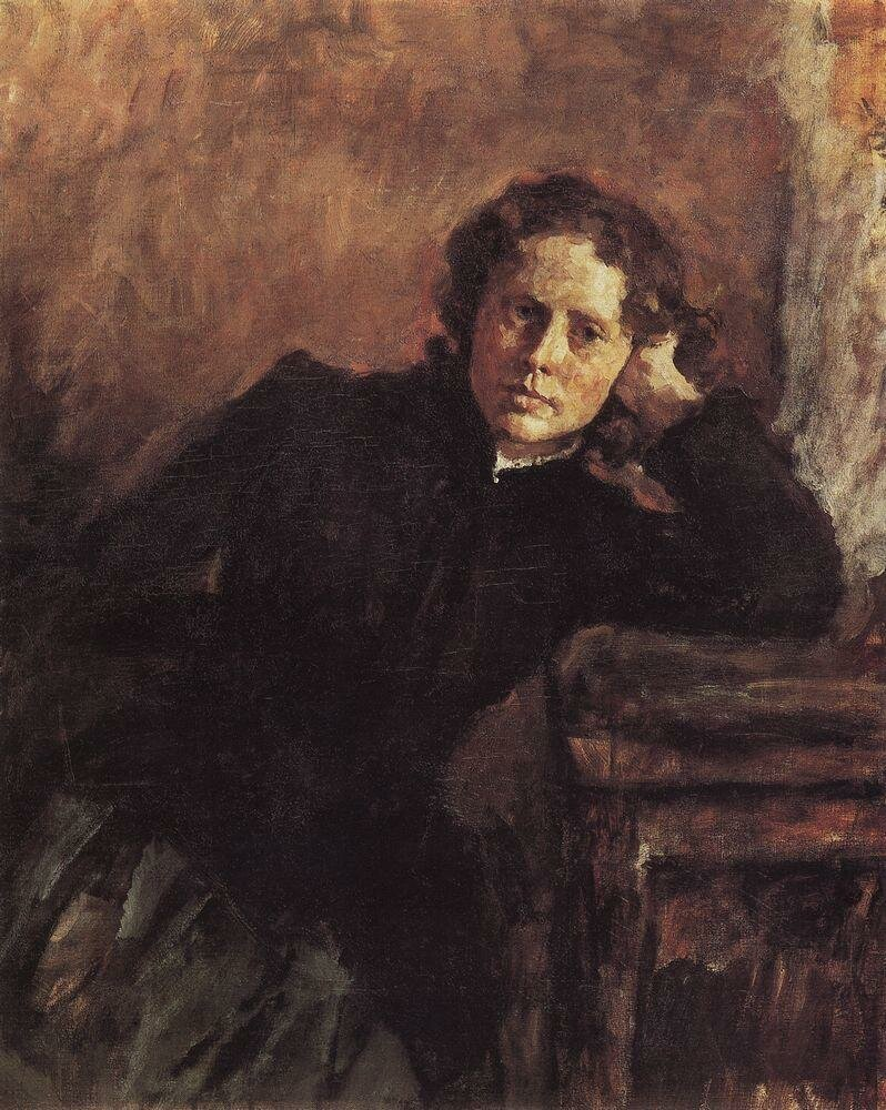 У окна. Портрет О.Ф.Трубниковой. 1885.jpg